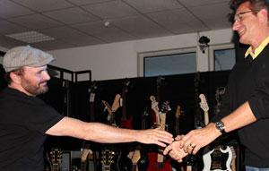 Dave Goodman mit Klaus Kirstein während eines Workshops.