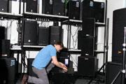 Veranstaltungstechnik im Musikkhaus Kirstein.