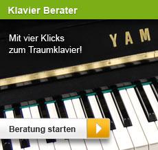 Klavier-Berater: Mit vier Klicks zum Traumklavier.