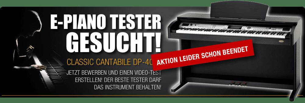E-Piano Tester gesucht!
