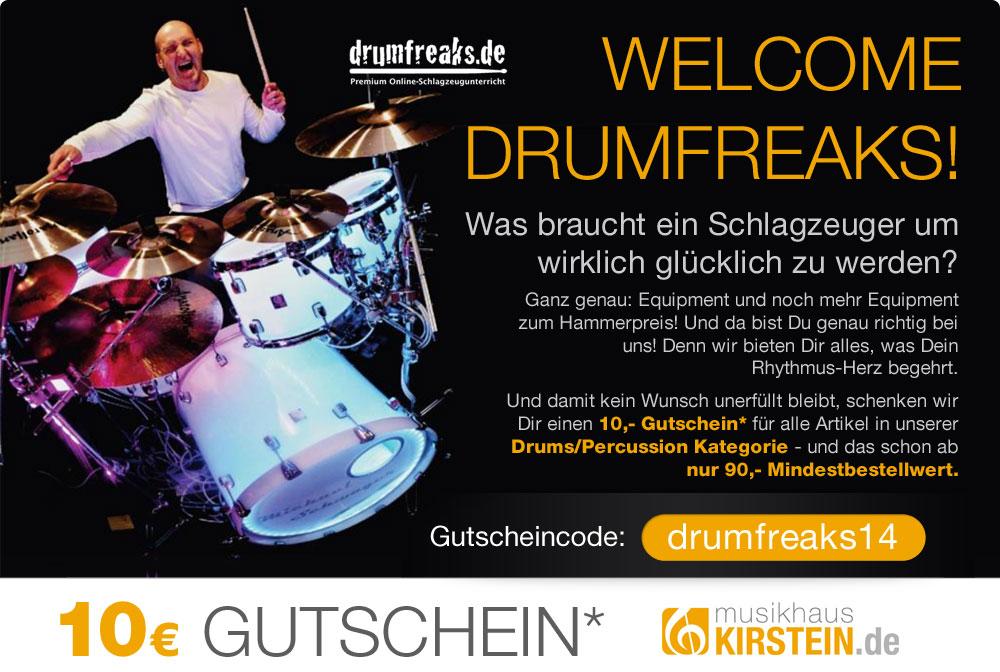 Welcom Drumfreaks - 10 Euro Gutschein