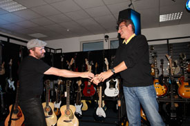Dave Goodman mit Klaus Kirstein