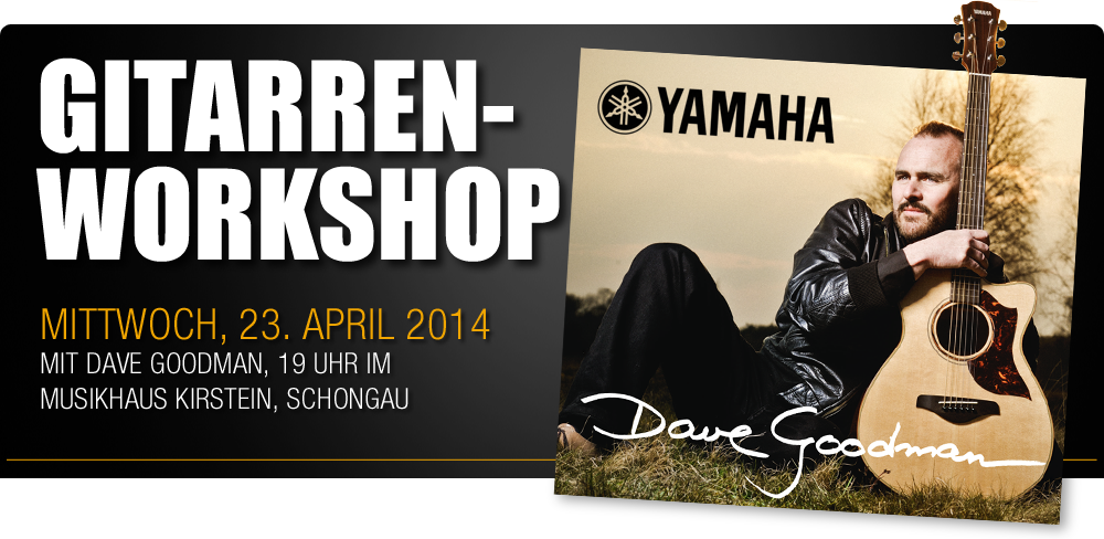 Yamaha Gitarren Workshop mit Dave Goodman