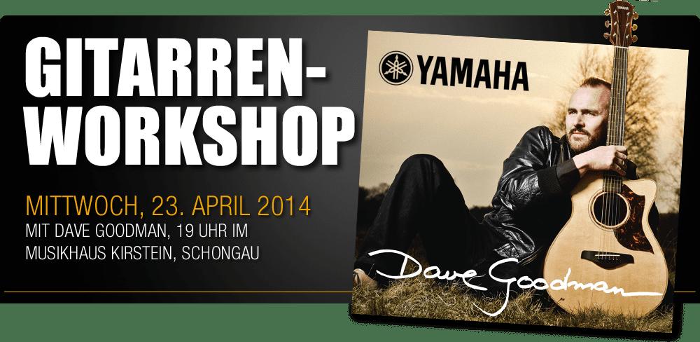 Yamaha Gitarren Workshop mit Dave Goodman