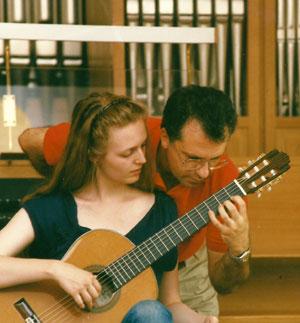 Heike Matthiesen mit ihrem Lehrer Pepe Romero