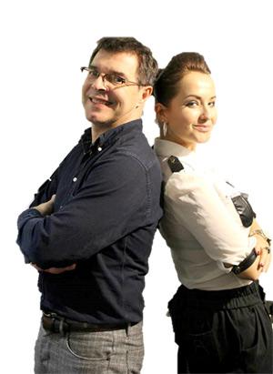 Das populäre Künstlerduo Susan Albers und Peter Baartmans.