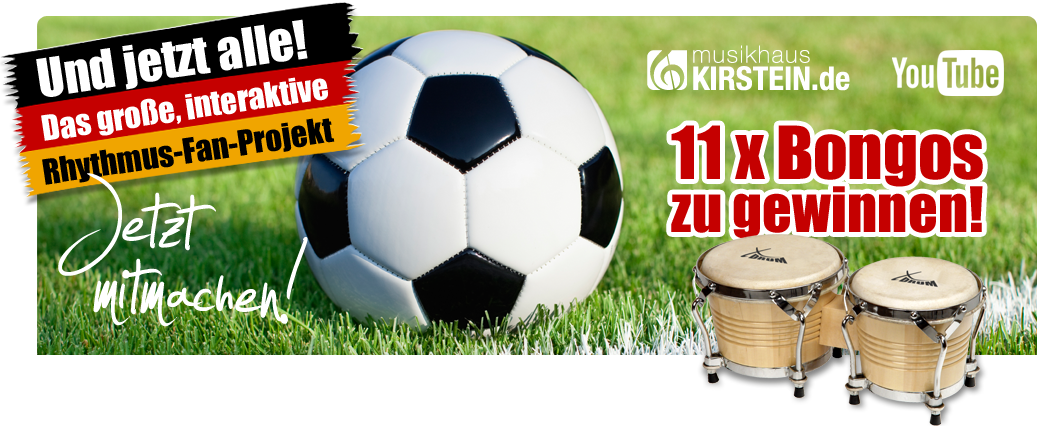 Das große WM-Gewinnspiel. 11 x Bongos zu gewinnen!