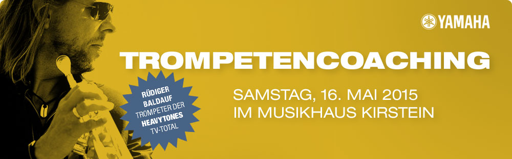 Yamaha Trompetencoaching mit Rüdiger Baldauf am 16. Mai im Musikhaus Kirstein