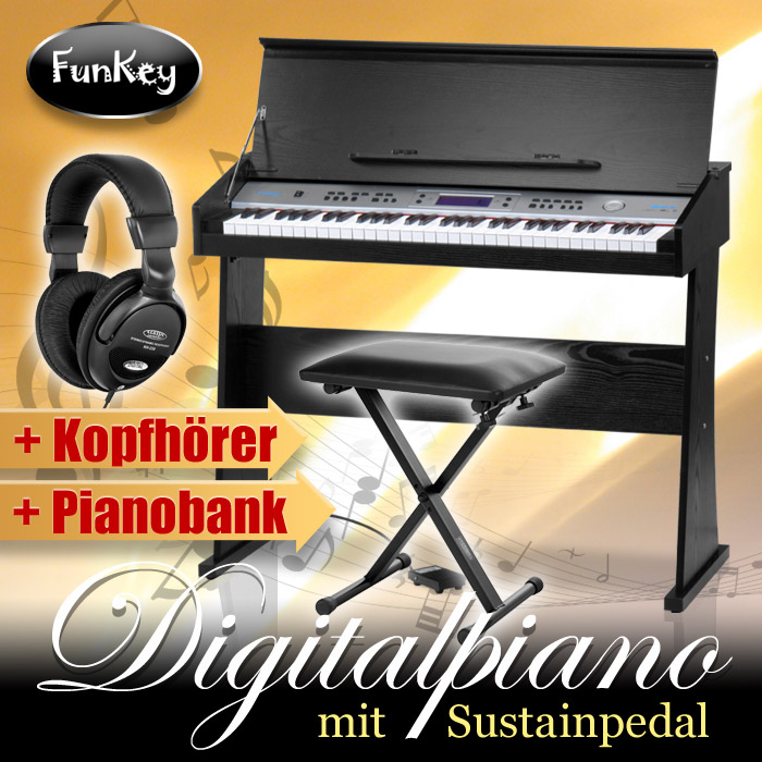61-TASTEN-DIGITAL-E-PIANO-EINSTEIGER-HOME-KEYBOARD-KOPFHORER-SITZ-BANK-PEDAL-SET
