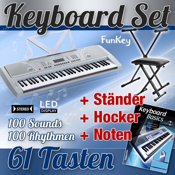 DIGITAL-61-TASTEN-KINDER-KEYBOARD-STANDER-KLAVIER-BANK-SCHULE-SET-E-PIANO-ORGEL