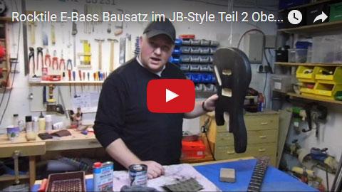 Videodokumentation Rocktile E-Bass Bausatz im JB-Style Teil 2 Oberflächenbehandlung
