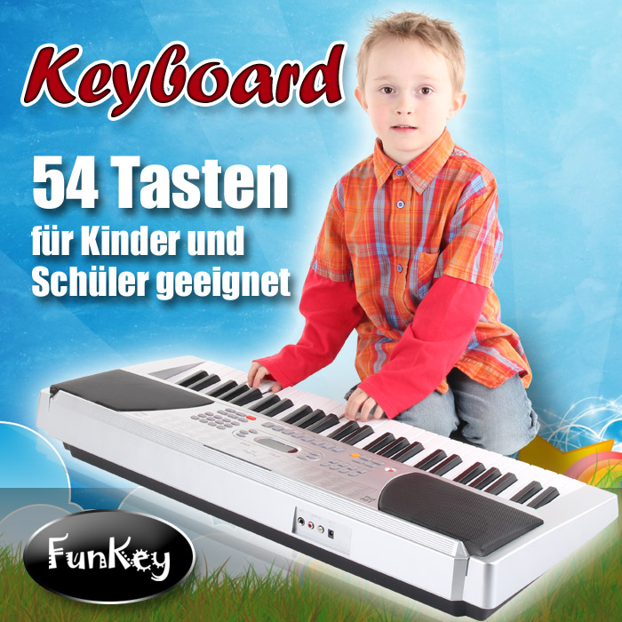DIGITALES-54-TASTEN-EINSTEIGER-KEYBOARD-KINDER-FUN-KEYBOARD-E-PIANO-100-SOUNDS