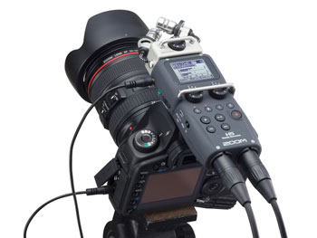 Der Zoom H5 in Audio-to-Video-Anwendung