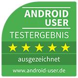Android User Testsiegel 5* ausgezeichnet