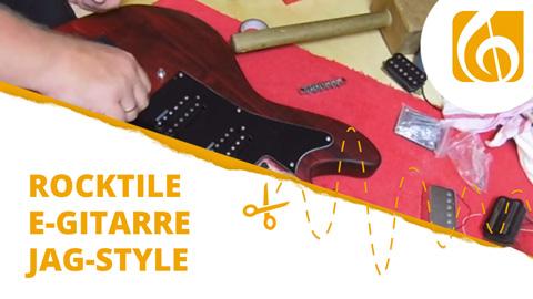 Videodokumentation Rocktile E-Gitarre Bausatz im JAG-Style Schnelldurchlauf