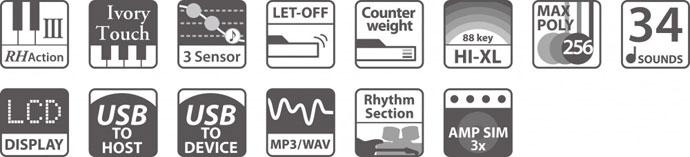 Funktionen des ES-8 Stagepiano