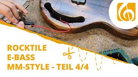 Videodokumentation Rocktile E-Bass Bausatz im MM-Style Teil 3 Montage und Soundcheck
