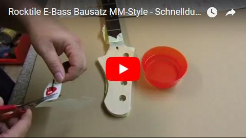 Videodokumentation Rocktile E-Bass Bausatz im MM-Style Teil 3 Schnelldurchlauf