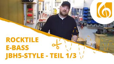 Videodokumentation Rocktile E-Bass Bausatz im JB-Style Teil 1 Unboxing, Werkzeuge und Kopfplatte
