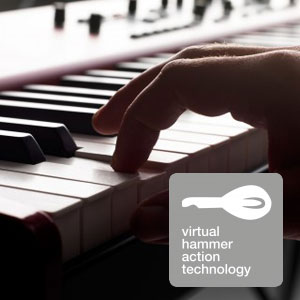 Clavia Nord Piano 3, Virtual Hammer Action Technology.