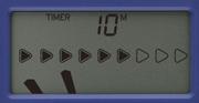 Korg MA-2 Metronom: Display-Ansicht zeigt Beispiel für den Timer-Modus