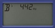 Korg MA-2 Metronom: Display-Ansicht zeigt Beispiel für den Sound Out-Modus