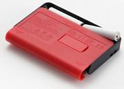 Korg MA-2 Metronom: Rückansicht mit leicht augeschobenem Batteriefachdeckl