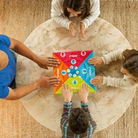 Familie spielt OffBeat, Ansicht von oben