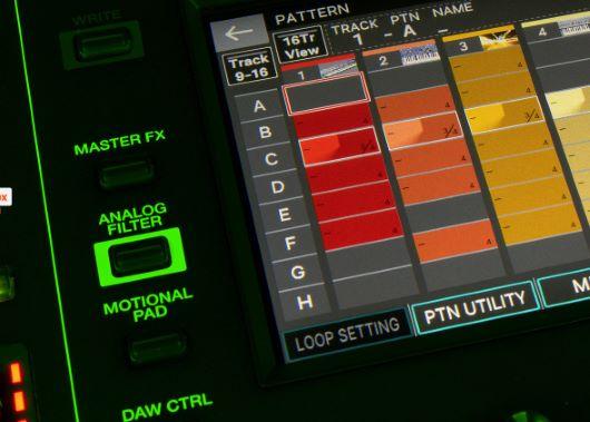Sequencing-Ansicht auf dem Display